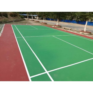Elastic acrylic badminton court flooring indoor and outdoor synthetic badminton sport flooring
