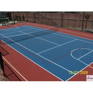 Anti Slip multipurpose sports court using SPU rubber floor/basketball court and volleyball court