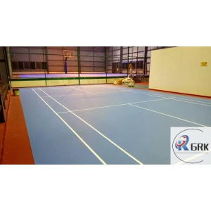 Non-pollution customized acrylic paint indoor sport florring for badminton court