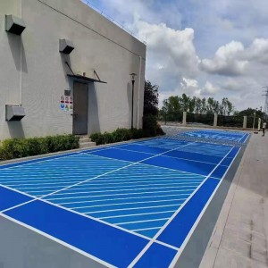Long lifespan synthetic acrylic coated sport flooring for badminton basketball tennis volleyball court