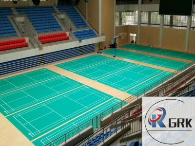Badminton court elastic acrylic flooring cushion type