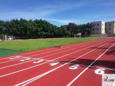 Construction Abroad Full PU Rubber Running Track with Long Lifespan