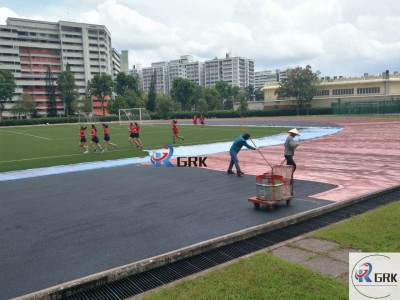Stadium surface Impermeable Sandwich PU Rubber Running Track