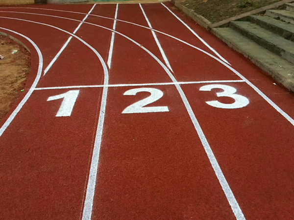rubber track and field